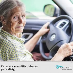 catarata e as dificuldades para dirigir